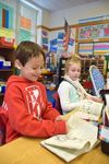 <p>Second-graders – who have been reading a variety of books as part of the Books in a Series unit from the Teachers College Reading and Writing Project curriculum –recently examined the literary techniques that authors use in their books.</p>